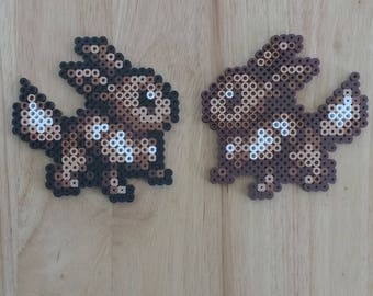Eevee Pokemon - 4.5x4.5 Perler Bead Art Pixel Art