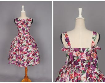 "Madeline Dress White ""Floral Explosion"" Flower Pattern"