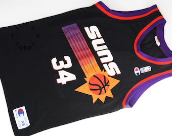 Vintage Champion NBA Charles Barkley #34 tank top / Phoenix Suns basketball singlet / Unisex Bball jersey sports tshirt apparel / 90s