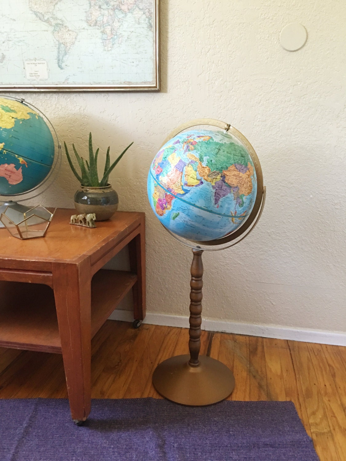 with lamp from light globe antique for globes world gemstone sale or stand watch floor replogle floors rotating