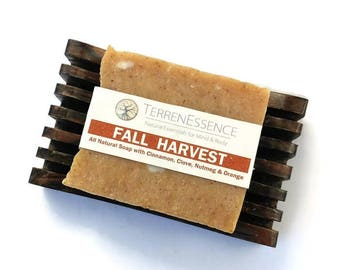 All Natural Soap, Vegan Soap, Fall Soap, Autumn Soap, Essential Oil Soap, Rustic Soap, Exfoliating Soap, Bath Bar, Body Soap, Soap Bar