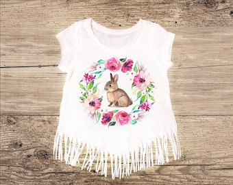 Easter Bunny Shirt with Fringe