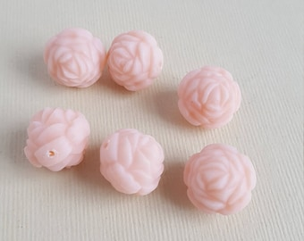 Vintage pale pink rose beads