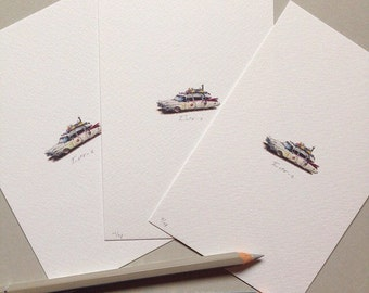 Prints of Ecto-1 - Ghostbusters series