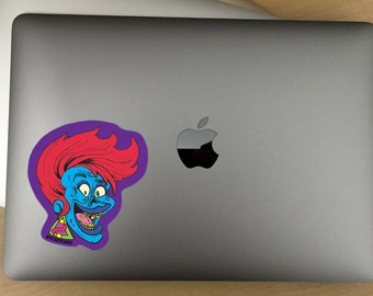 80's New Wave Zombie Chick Decal  -- For Cars, Laptops, and More!  -- Use Inside or Outside  -- Sicks To Any Flat Smooth Surface