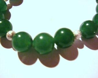 Jade and silver bracelets