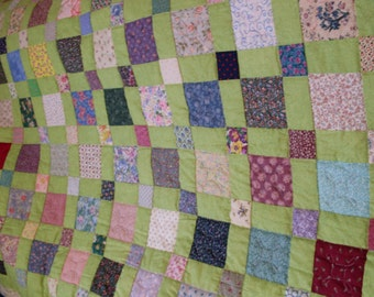 Squares and Squares Quilt 86 x 100