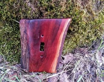 Rustic Style Wooden Manzanita Light Switch Plate Single 2 Wallplate