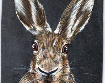 Hare acrylic animal painting