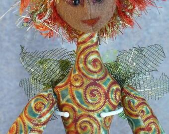 """Holly Fairy -  18"""" Art Doll"""