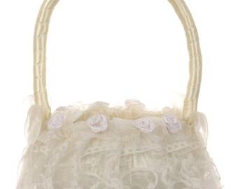 Romantic Lace Flower Girl Basket