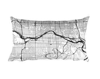 Calgary Pillow, Calgary Decor, Calgary Cushion, Calgary Throw Pillow, Calgary Gift, Calgary AB Map, Calgary Art, Calgary Alberta, Throw