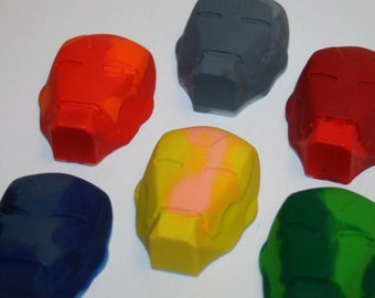 Set of 6 Colorful Iron Man Inspired Crayons