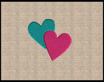 Valentine Heart Embroidery Design 2 Fill stitch Hear embroidery design Mini Heart Embroidery Design Fill Stitch heart Embroidery Design