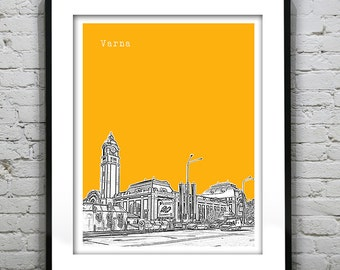Varna Skyline Poster Art Print Burgaria Version 1