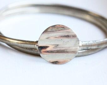 Circle Wave Belt, Silver Belt, Silver Metal Belt, Stretch Belt, Waist Belt, Dress Belt, Small Belt