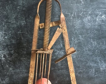 Rusty Steel Mole Gopher Trap Steampunk Mad Scientist Scary