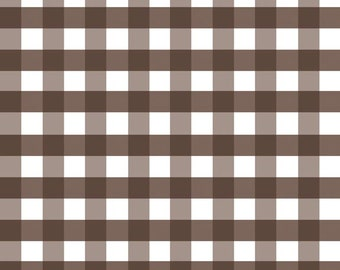 "1 Yard -1/2"" Gingham by Riley Blake Designs- Brown C460-90"