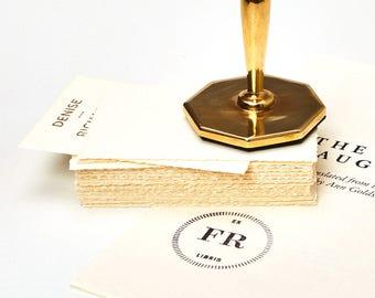 Cast Bronze Octagonal Custom Rubber Stamp includes personalization
