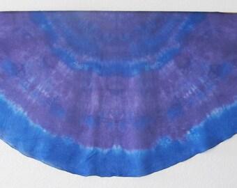 Silk Veil for Bellydance  3 Yard Half Circle  Silk Evening Wrap Silk Sarong-Galaxy