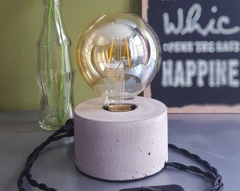 Table lamp made of concrete, concrete lamp