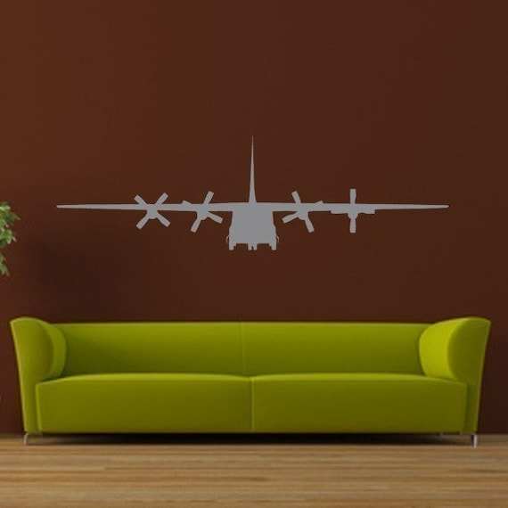 C130 Airplane/Large Vinyl Wall Art Graphic-Choose any color