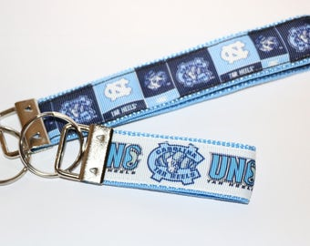College Basketball Team Key Fob Wristlets Available in 2 Sizes
