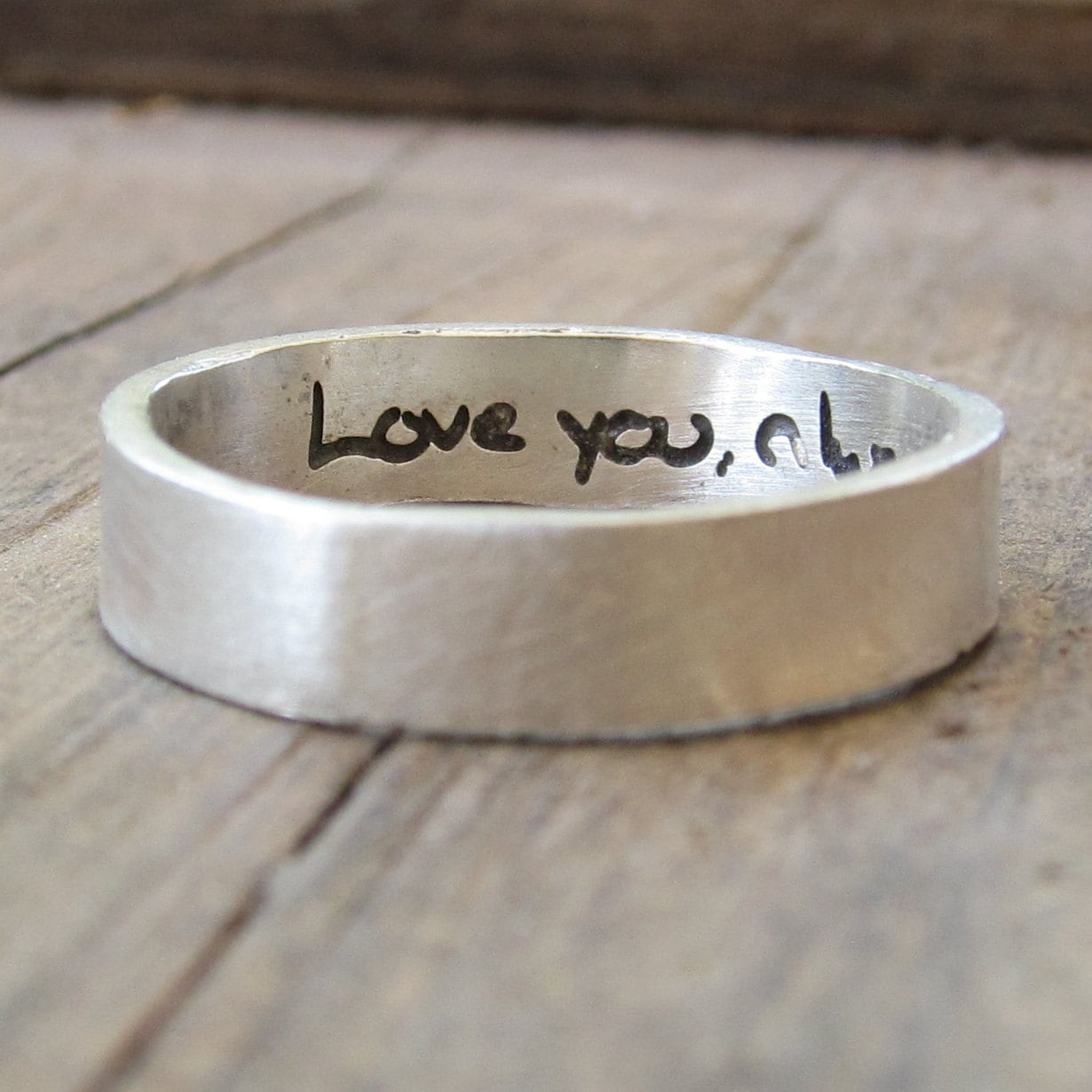 Personalized Ring ACTUAL Handwriting Jewelry Engraved