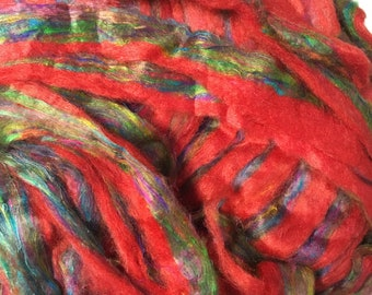 Recycled Sari Silk - for Spinning or Felting