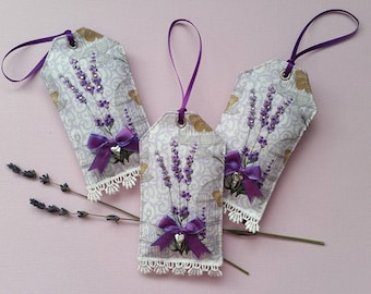 Lavender Sachets – Sachet gift Tags – Set of Three