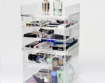 6 Tier Makeup Organizer | Dream Collection - Clear Acrylic Makeup Storage