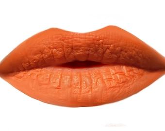 Vegan Orange Matte Lipstick - Organic Natural - 90s sunset