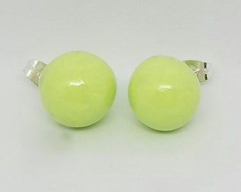 Green Pastel Earrings
