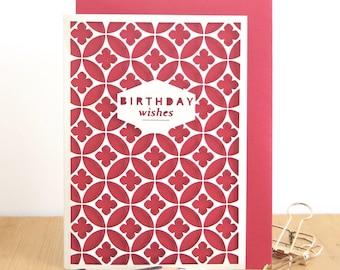 Birthday card, Happy Birthday card, Birthday card for mum, Birthday card for grandma, Minimalist birthday card, Birthday wishes card