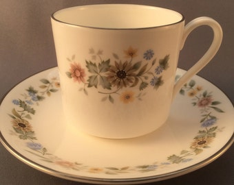 Royal Doulton Pastorale Coffee Cup and Saucer