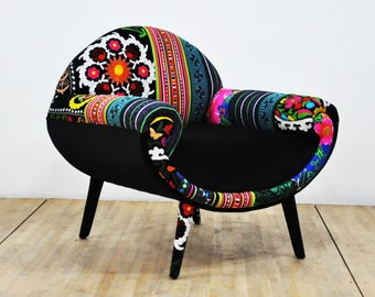 Smiley Armchair - black passion
