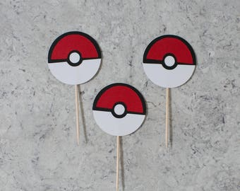 Pokemon cupcake toppers; Birthday party