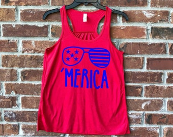 4th July, Merica, Merica Tank, Merica Shirt, Merica Adult, July 4th, July 4th outfit, Fourth of July, Ladies Merica, Fourth of July Tank,