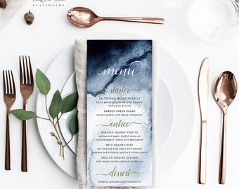 A Whistler Evening - Menu Cards (Style 13760)