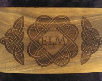 "Personalized Engraved Keepsake Box 9.5"" walnut"