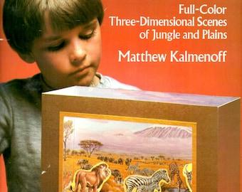 African Wildlife Dioramas children's workbook