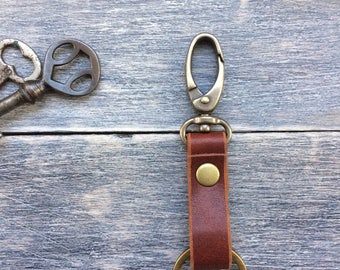 Leather key fob, keychain,key ring