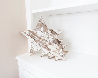 Farmhouse Decor, Rustic Home Decor, Country Home Decor, Chippy White, Wood Star, Barn wood Decor, Entryway Decor, French Country Decor, Star