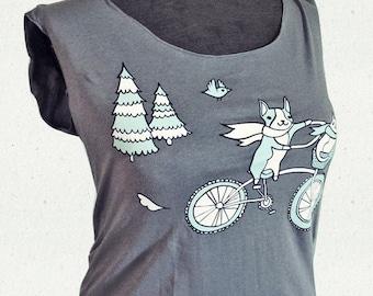 graphic tee BIKE shirt - girlfriend gift, scoop neck tee shirts women t-shirts, graphic tees for women, teen girl clothes teen girl clothing