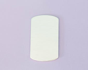 "Large 1.92"" (48.76mm) Dogtag - Aluminum Stamping Blanks - Metal Stamping Blanks - 14g - #41 (1.125"" by 1.92"")"