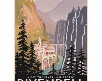 Rivendell Lord of the Rings Wall Decal #44828