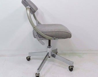 Vintage Domore Rolling Office Do-More Mid Century Ergonomic Swivel Chair