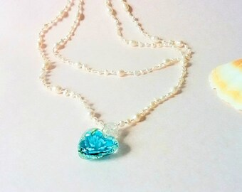 Clear Water Flower Necklace