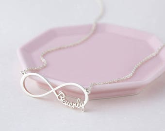 Mother's Day Gift - Personalized Infinity Necklace - Infinity Necklace with Names - Family Name Necklace - Infinity Jewelry Mom gift 3 kids