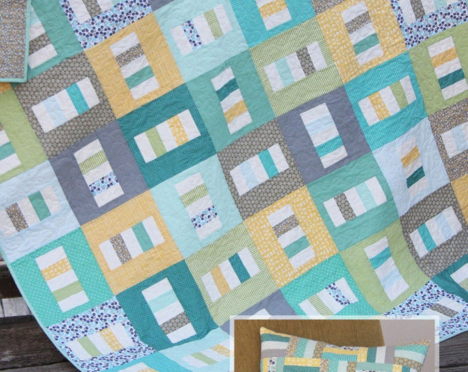 """Boardwalk Quilt Pattern #135 by Cluck Cluck Sew - 4 Sizes and a 20"""" Pillow - Beginner Quilt (W754)"""